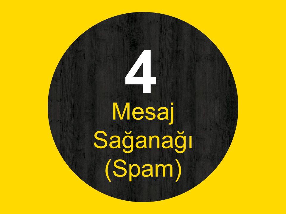 4 Mesaj Sağanağı (Spam)