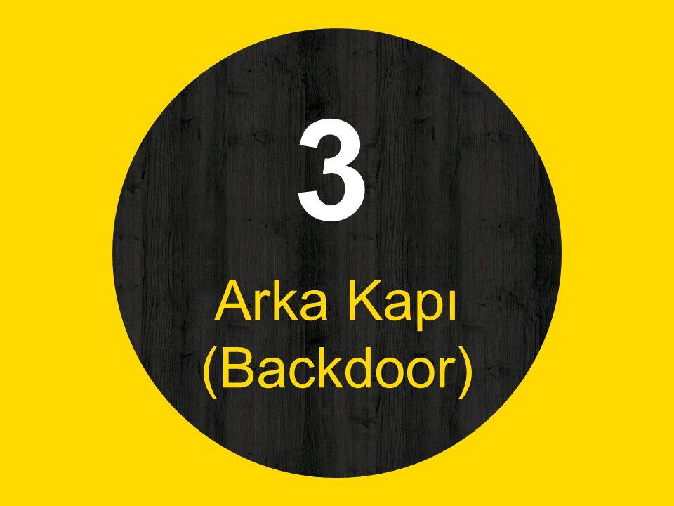 3 Arka Kapı (Backdoor)
