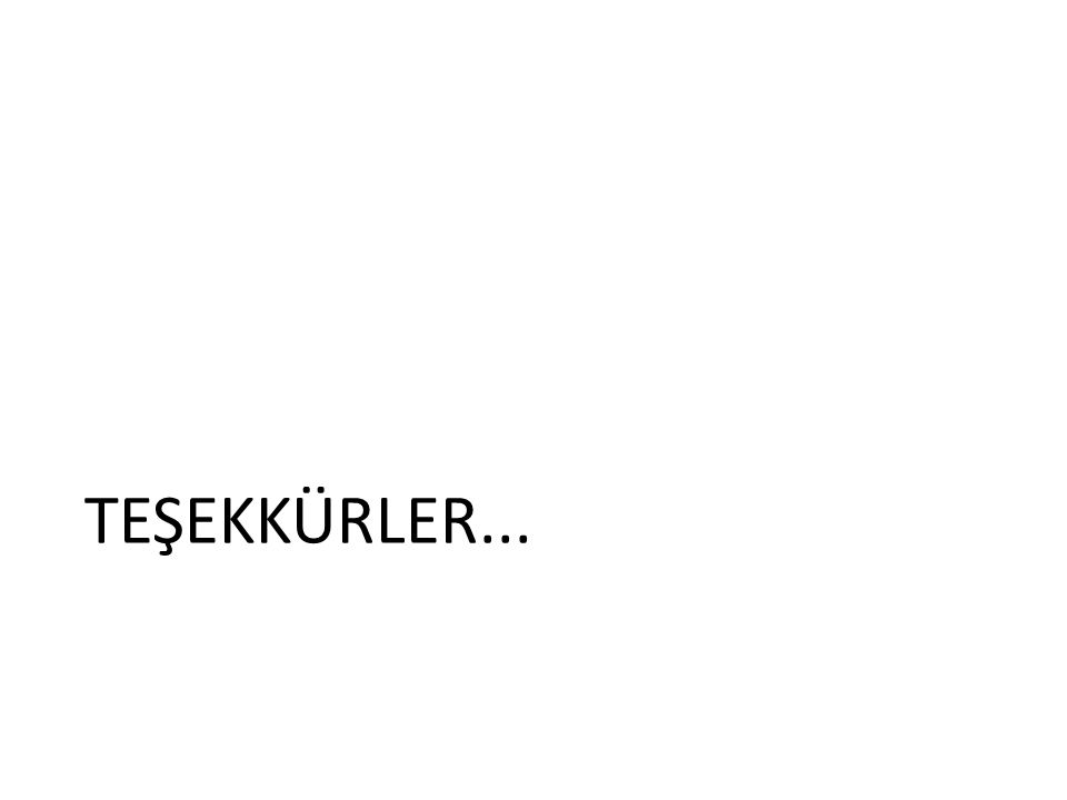 TEŞEKKÜRLER...