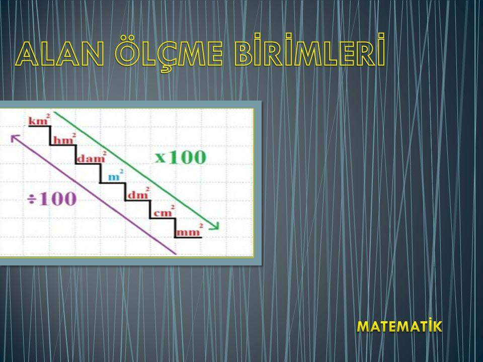 Günlük hayatımızda çeşitli yüzeyleri ölçmek için kullanılan ölçülere alan ölçüleri denir.