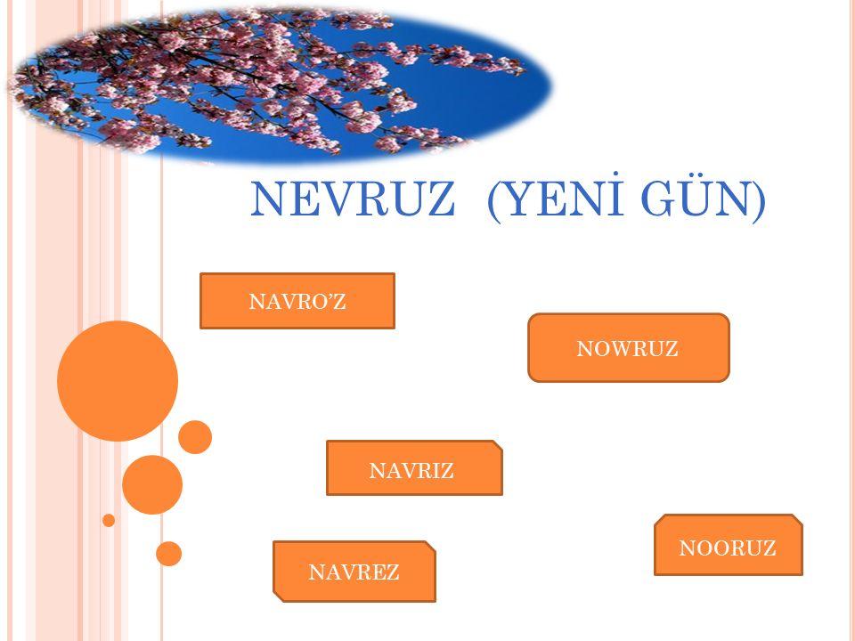 Günümüzde Nevruz bayramını Türki Cumhuriyetler ve Türk Boylarının yanı sıra tarih boyu Kadim Türklerle haşır neşir olmuş Farslar,Kürtler, Zazalar, Afganlar, Arnavutlar, Gürcüler, Tacikler de belirli bölgeler de kutlamaktadır.