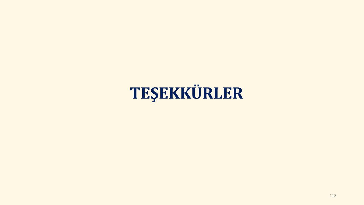TEŞEKKÜRLER 115