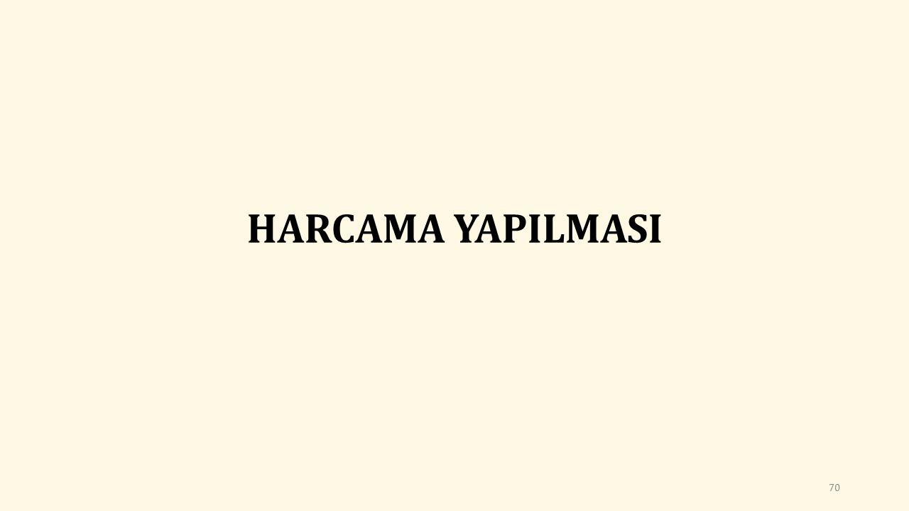 HARCAMA YAPILMASI 70