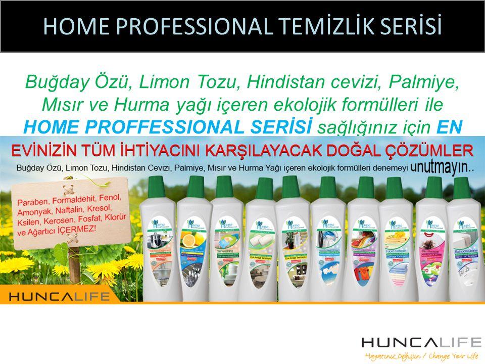 HOME PROFESSIONAL TEMİZLİK SERİSİ Buğday Özü, Limon Tozu, Hindistan cevizi, Palmiye, Mısır ve Hurma yağı içeren ekolojik formülleri ile HOME PROFFESSIONAL SERİSİ sağlığınız için EN İYİSİ!!