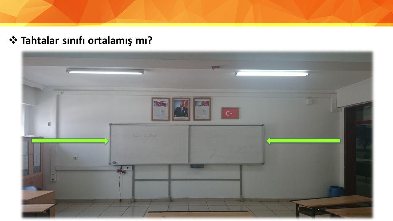  Tahtalar sınıfı ortalamış mı?