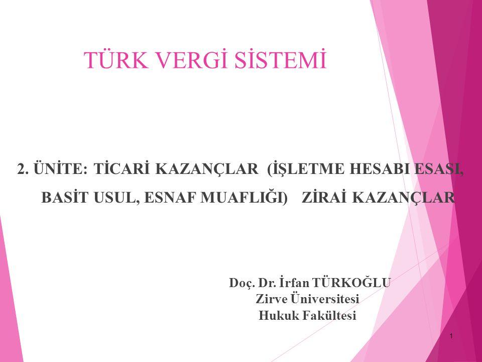 1 TÜRK VERGİ SİSTEMİ 2.