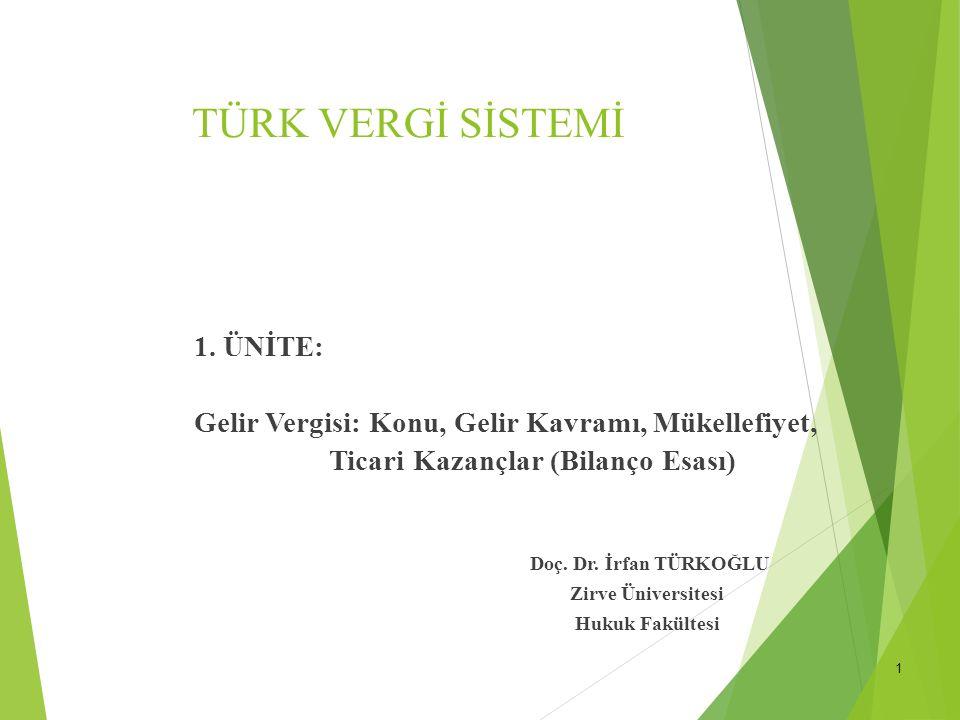 1 TÜRK VERGİ SİSTEMİ 1.