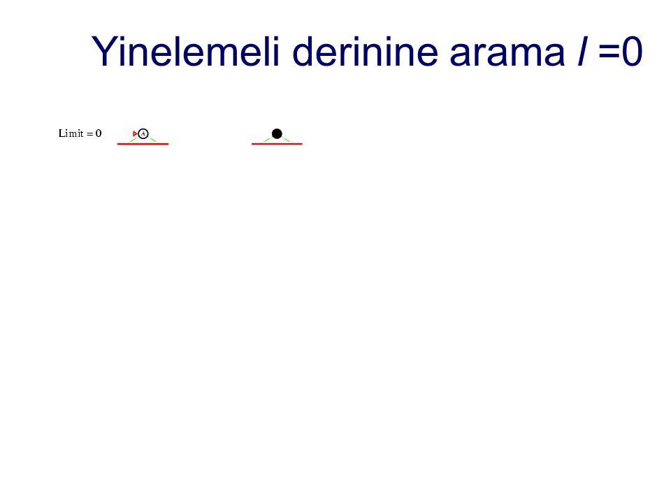 Yinelemeli derinine arama l =0