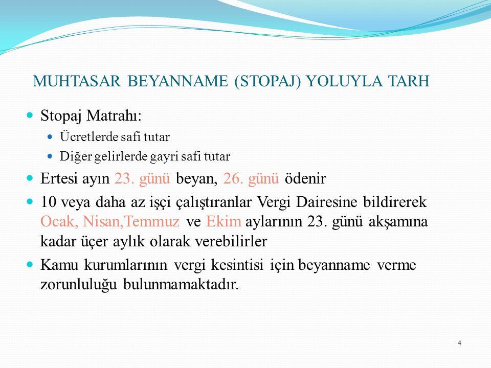 15 GELİR VERGİSİNDE DAR MÜKELLEFLERE ÖZGÜ DÜZENLEMELER Dar Mükellefler sadece Türkiye'deki kazançları üzerinden vergi öderler (Yersellik İlkesi).