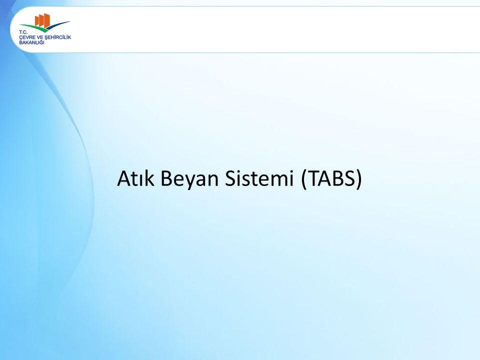 Atık Beyan Sistemi (TABS)
