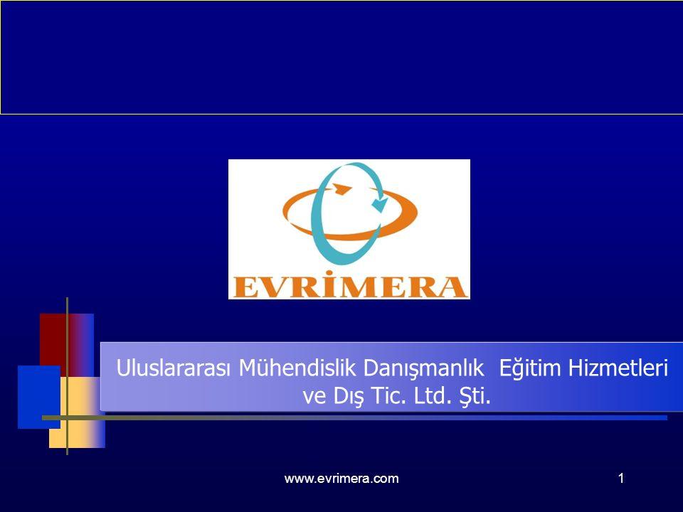 www.evrimera.com1 Uluslararası Mühendislik Danışmanlık Eğitim Hizmetleri ve Dış Tic. Ltd. Şti.