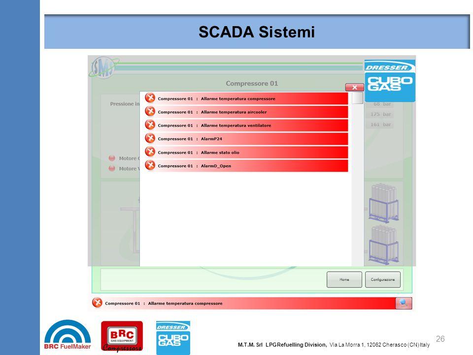 SCADA Sistemi 26 M.T.M. Srl LPGRefuelling Division, Via La Morra 1, 12062 Cherasco (CN) Italy