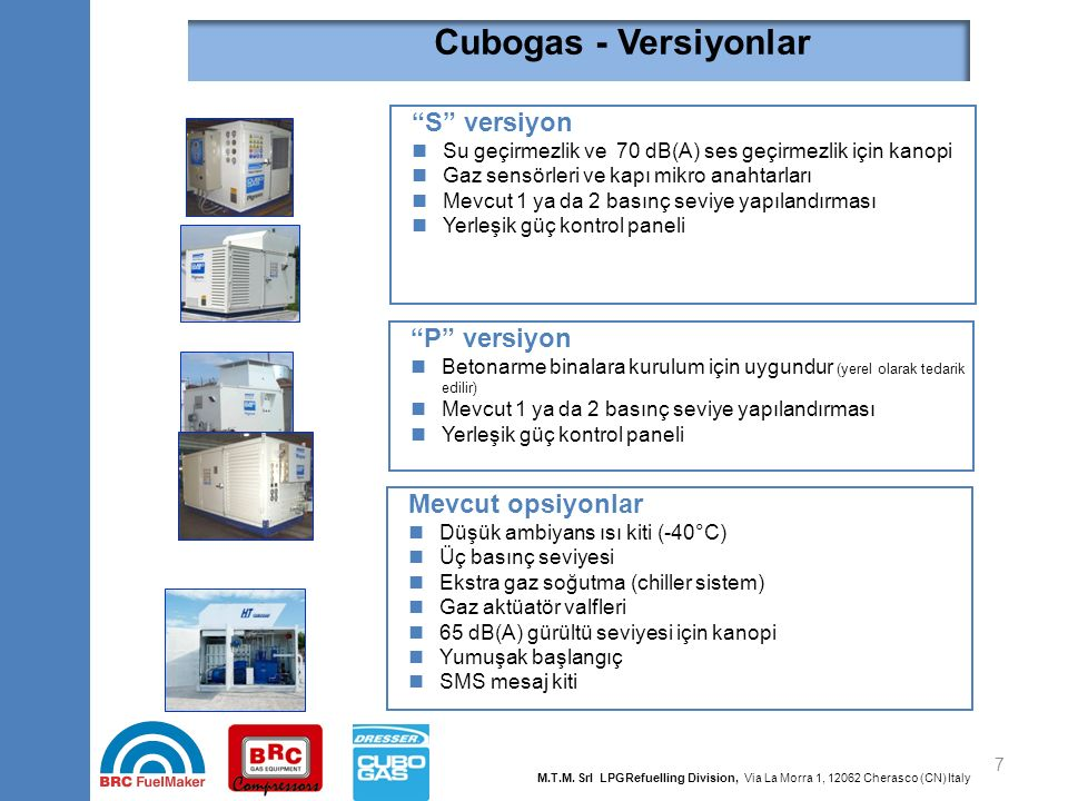 """7 """"S"""" versiyon Su geçirmezlik ve 70 dB(A) ses geçirmezlik için kanopi Gaz sensörleri ve kapı mikro anahtarları Mevcut 1 ya da 2 basınç seviye yapıland"""