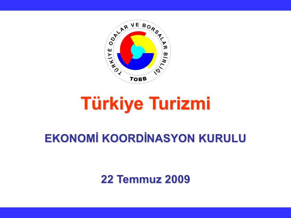 Türkiye Turizmi EKONOMİ KOORDİNASYON KURULU 22 Temmuz 2009