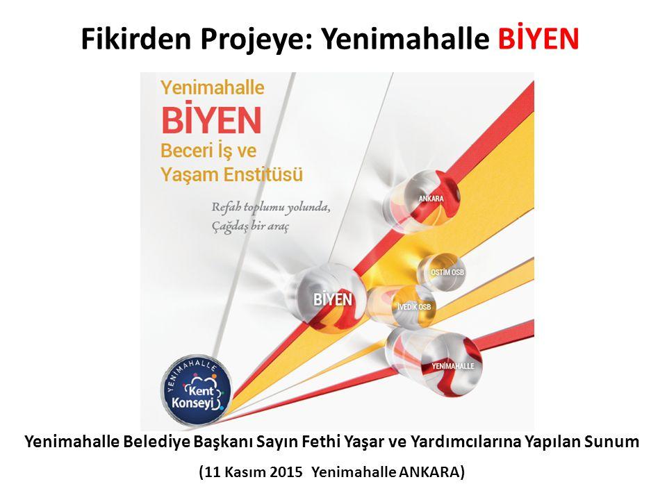 Fikirden Projeye: Yenimahalle BİYEN Yenimahalle Belediye Başkanı Sayın Fethi Yaşar ve Yardımcılarına Yapılan Sunum (11 Kasım 2015 Yenimahalle ANKARA)