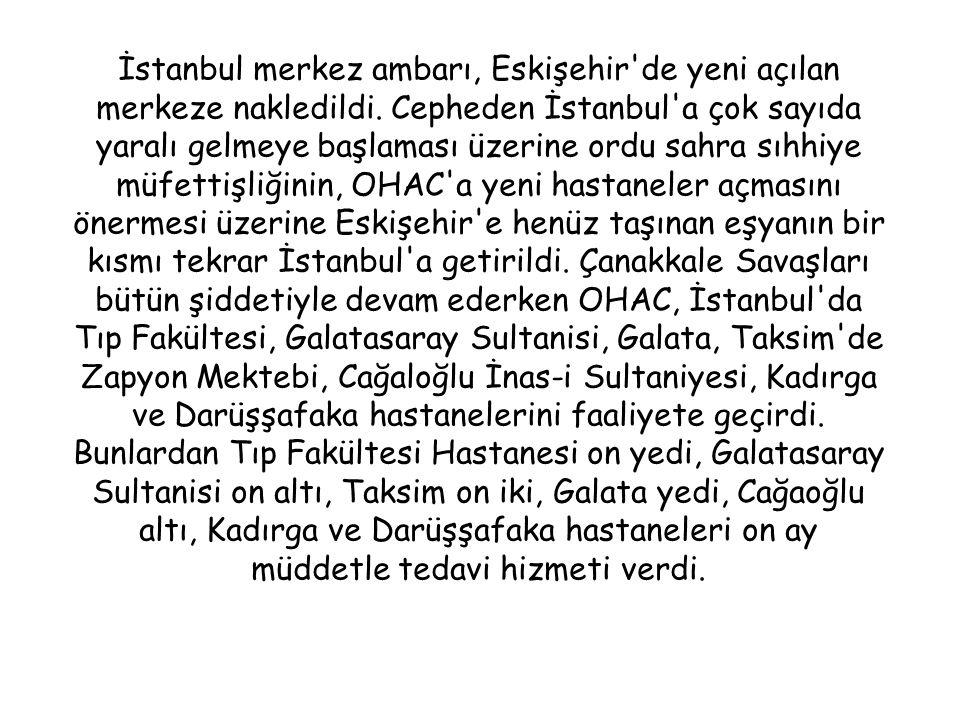 İstanbul merkez ambarı, Eskişehir de yeni açılan merkeze nakledildi.