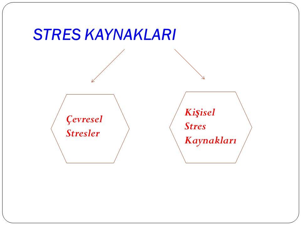 STRES KAYNAKLARI Ki ş isel Stres Kaynakları Çevresel Stresler