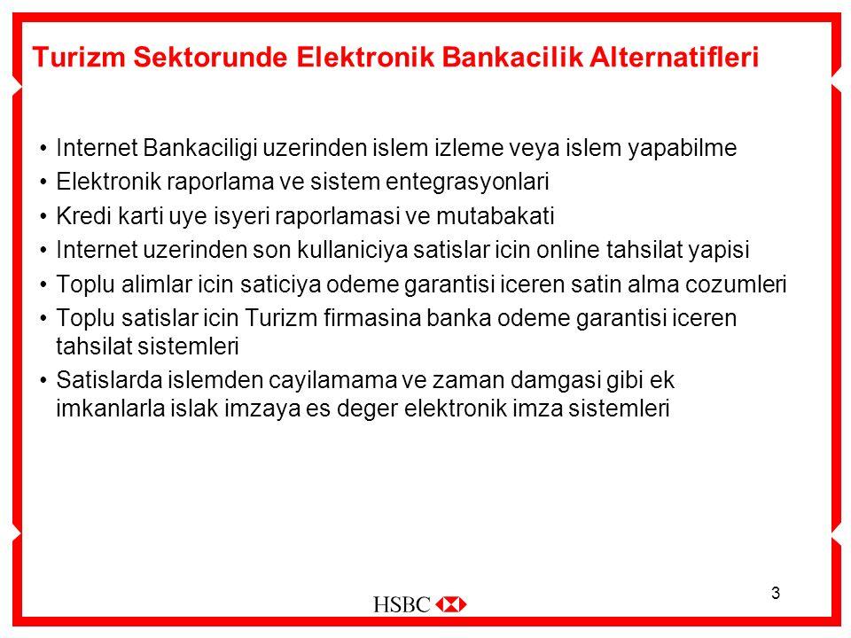 3 Turizm Sektorunde Elektronik Bankacilik Alternatifleri Internet Bankaciligi uzerinden islem izleme veya islem yapabilme Elektronik raporlama ve sist