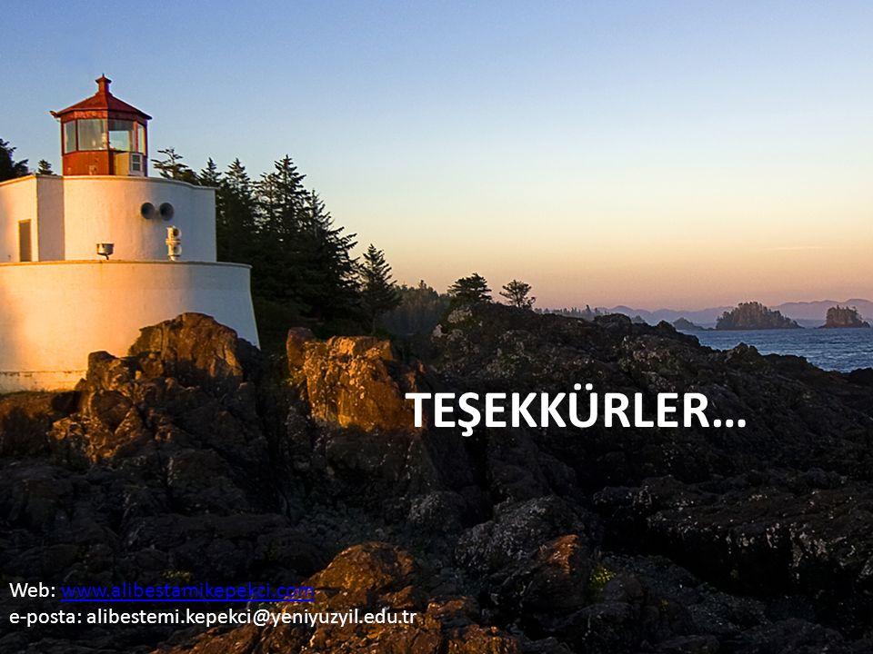 TEŞEKKÜRLER… Web: www.alibestamikepekci.comwww.alibestamikepekci.com e-posta: alibestemi.kepekci@yeniyuzyil.edu.tr