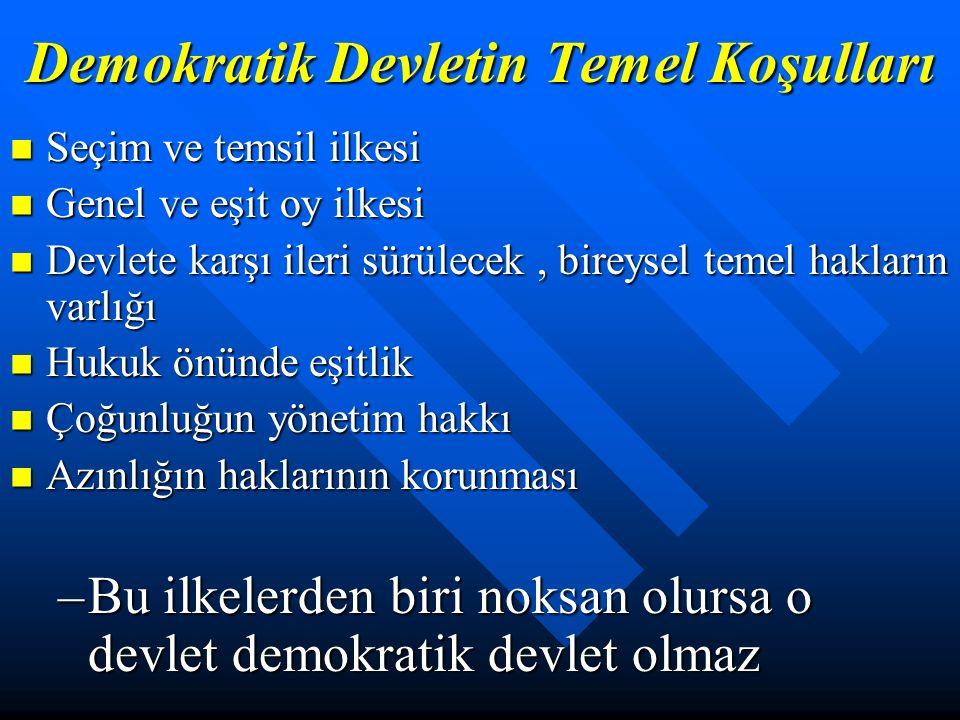 Demokrasi ve Demokratik Eğitim Demokrasi; Egemenliğin bir hak olarak kabul edilip, doğrudan ya da özgür bir iradeyle seçilmiş temsilciler aracılığıyla kullanılmasıdır.