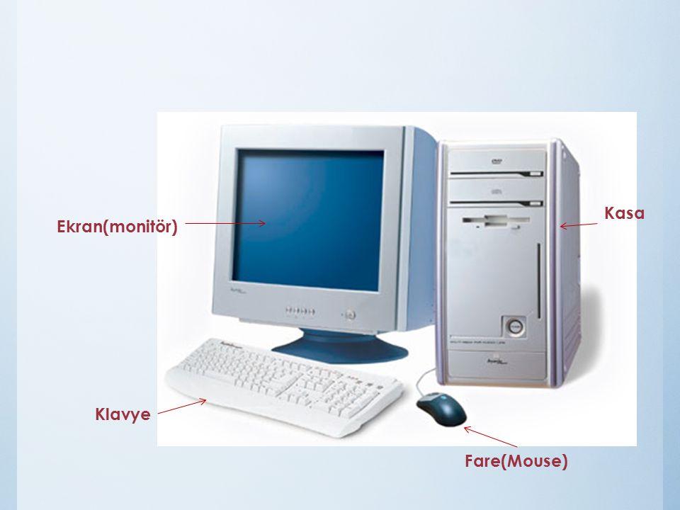Ekran(monitör) Klavye Fare(Mouse) Kasa