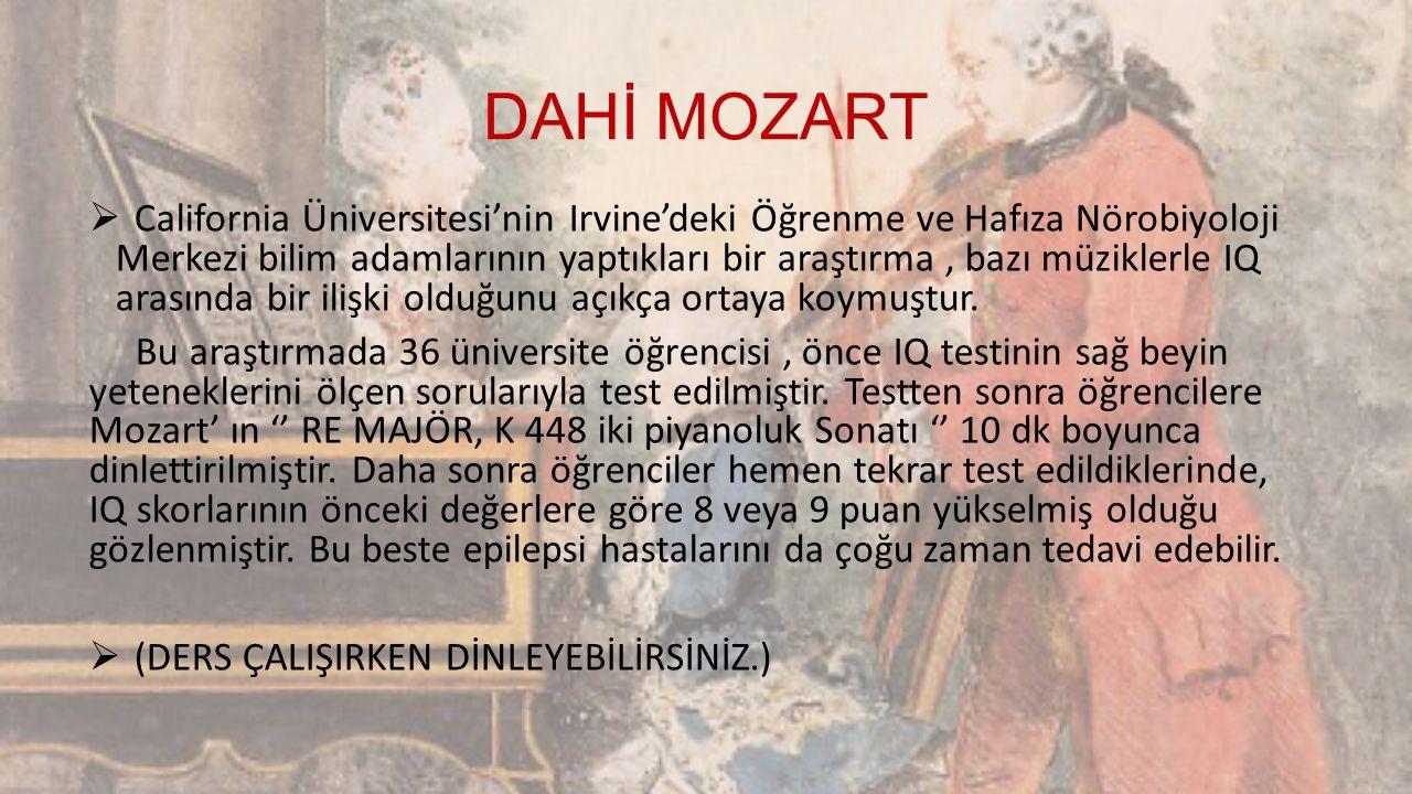MOZART'IN SÖZLERİ  Müziğin en önemli, en zor ve özü tempodur.  Gerçek mutluluk insanın aldıklarında değil verdiklerinde gizlidir.  Babamın ülkesi ü