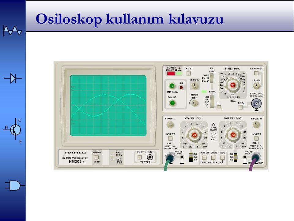 C E B Osiloskop kullanım kılavuzu