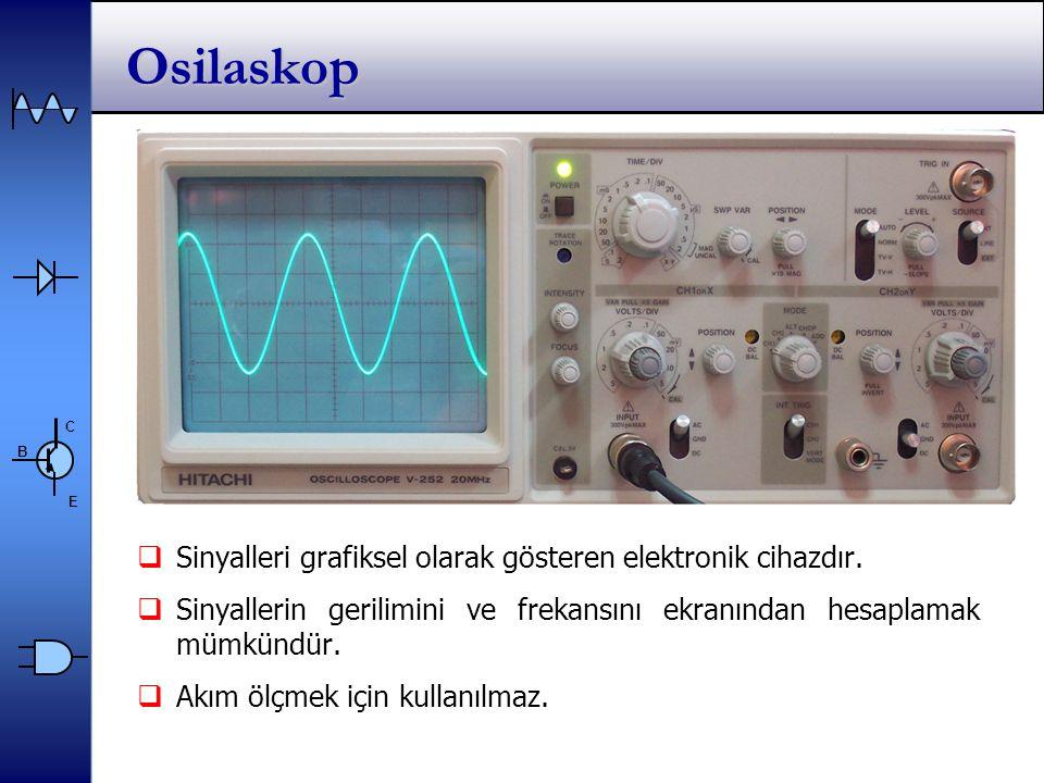 C E B Osilaskop  Sinyalleri grafiksel olarak gösteren elektronik cihazdır.
