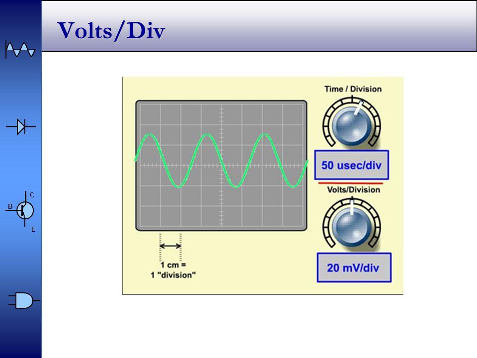 C E B Volts/Div