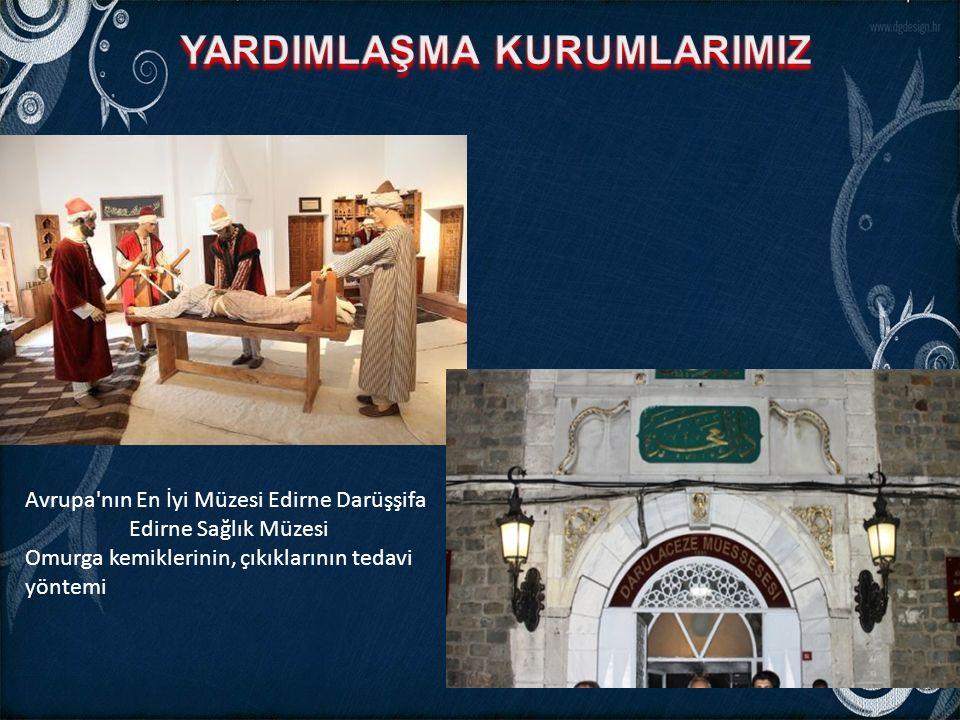 Avrupa'nın En İyi Müzesi Edirne Darüşşifa Edirne Sağlık Müzesi Omurga kemiklerinin, çıkıklarının tedavi yöntemi