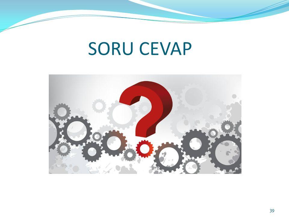 SORU CEVAP 39