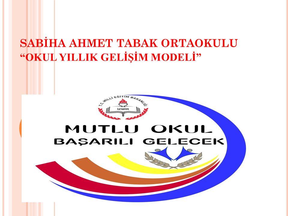 """SABİHA AHMET TABAK ORTAOKULU """"OKUL YILLIK GELİŞİM MODELİ"""""""