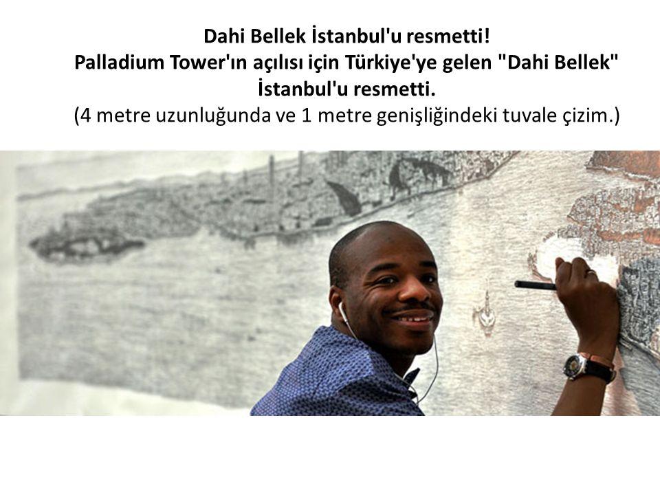 Dahi Bellek İstanbul'u resmetti! Palladium Tower'ın açılısı için Türkiye'ye gelen