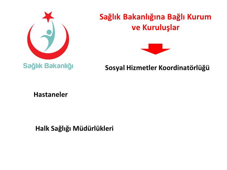 Sağlık Bakanlığına Bağlı Kurum ve Kuruluşlar Sosyal Hizmetler Koordinatörlüğü Hastaneler Halk Sağlığı Müdürlükleri