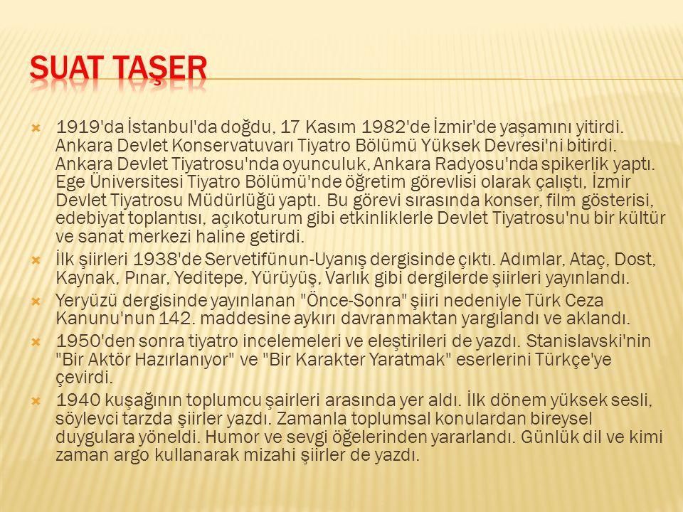  1919'da İstanbul'da doğdu, 17 Kasım 1982'de İzmir'de yaşamını yitirdi. Ankara Devlet Konservatuvarı Tiyatro Bölümü Yüksek Devresi'ni bitirdi. Ankara