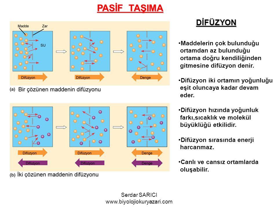 OSMOZ Suyun yarı geçirgen bir zardan difüzyonuna osmoz denir.