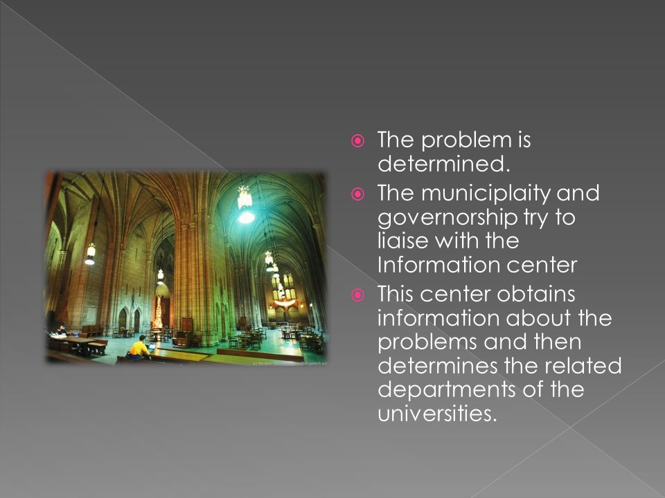  After researchs, the solution is proposed to the municiplaties by the information center.