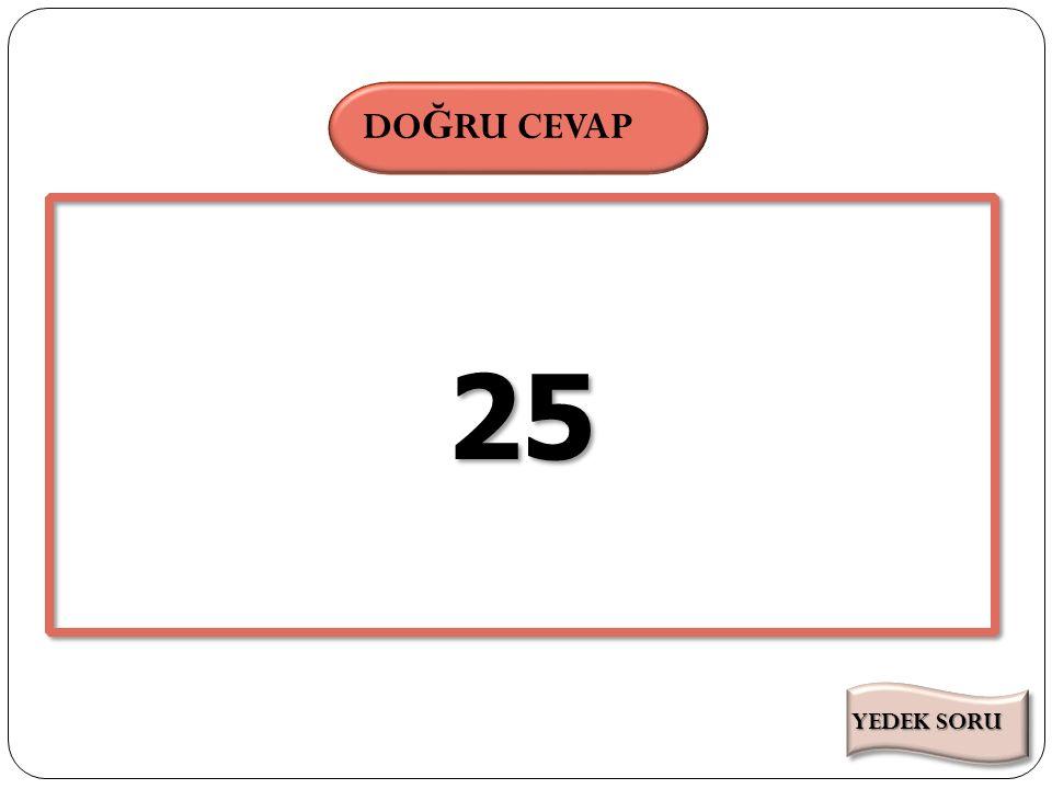 SÜRE DO Ğ RU CEVAP (14-3.2).3+1=. Yukarıdaki işlemin sonucunu bulunuz.