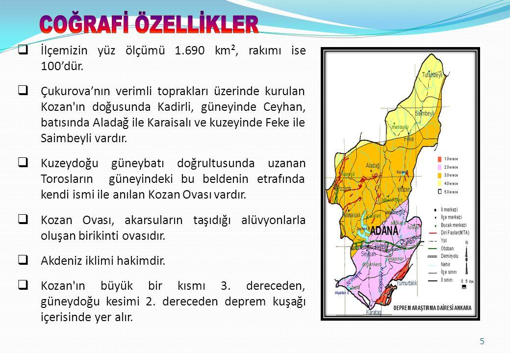6  İlçemizin 30 Mart 2014 mahalli seçimlerin ardından yürürlüğe giren Büyükşehir yasasına göre, 15 i merkez olmak üzere toplam 103 mahallesi bulunmaktadır.