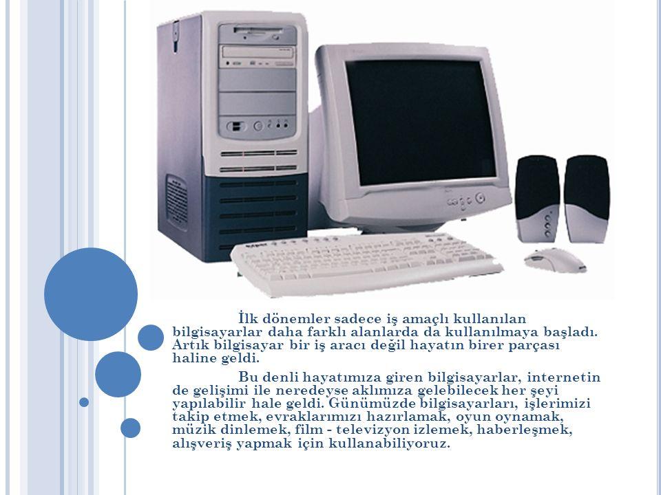 İlk dönemler sadece iş amaçlı kullanılan bilgisayarlar daha farklı alanlarda da kullanılmaya başladı.