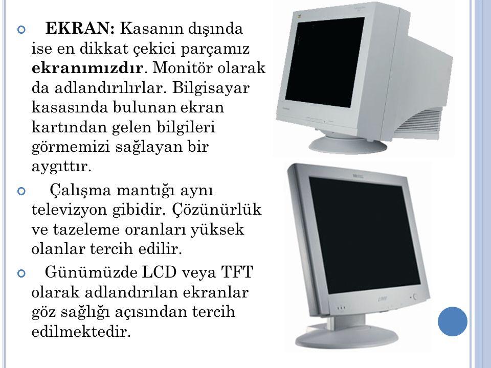 EKRAN: Kasanın dışında ise en dikkat çekici parçamız ekranımızdır.