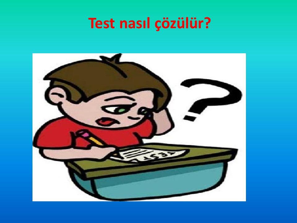 Test nasıl çözülür?