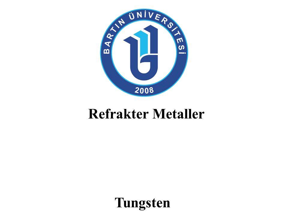 Tungsten: Üretimi Çözücü ekstrasyonu pH değeri 2-3 olan sodyum tungstat solüsyonu karosen ve alifatic aminler gibi organik fazlarla tepkimeye sokulur.