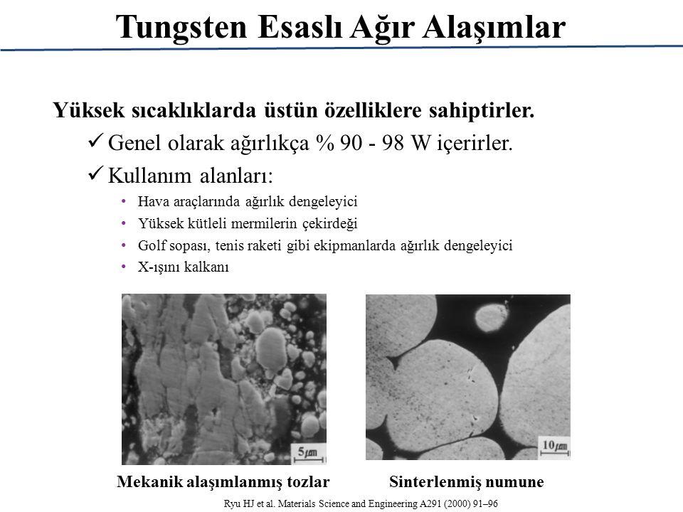 Tungsten Esaslı Ağır Alaşımlar Yüksek sıcaklıklarda üstün özelliklere sahiptirler.