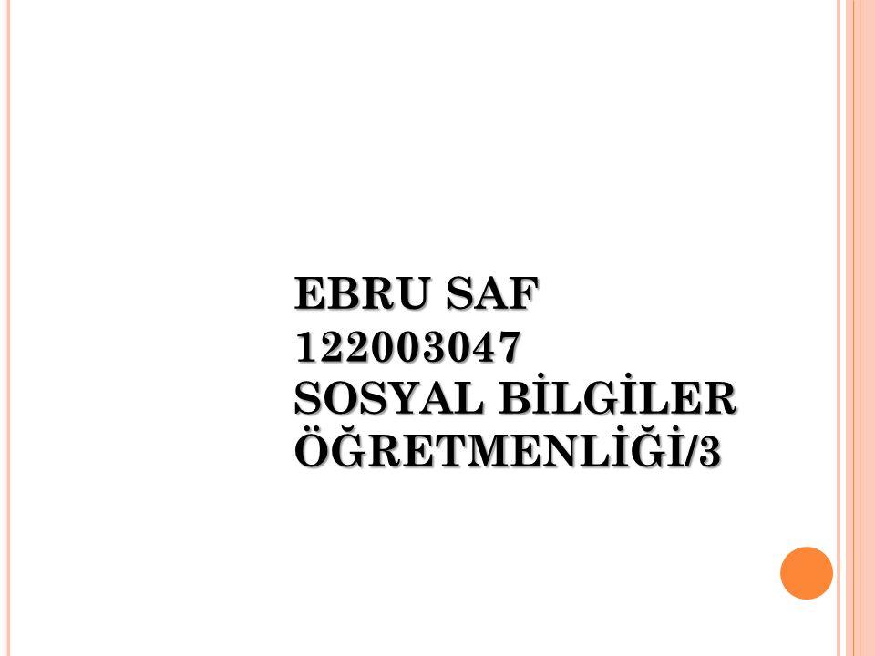 EBRU SAF 122003047 SOSYAL BİLGİLER ÖĞRETMENLİĞİ/3