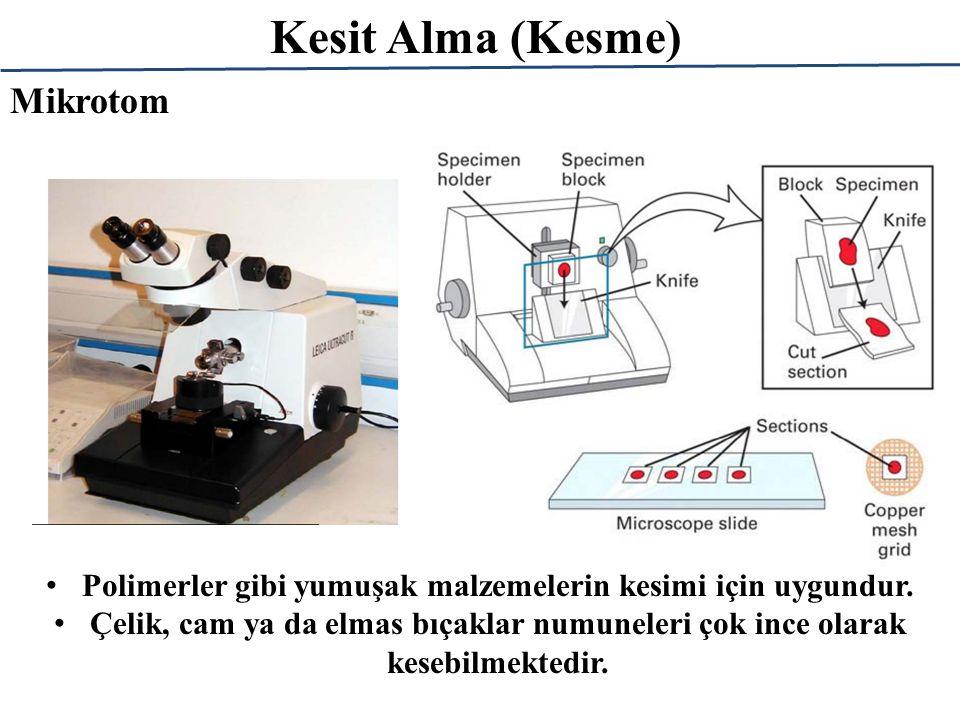 Kesit Alma (Kesme) Polimerler gibi yumuşak malzemelerin kesimi için uygundur.
