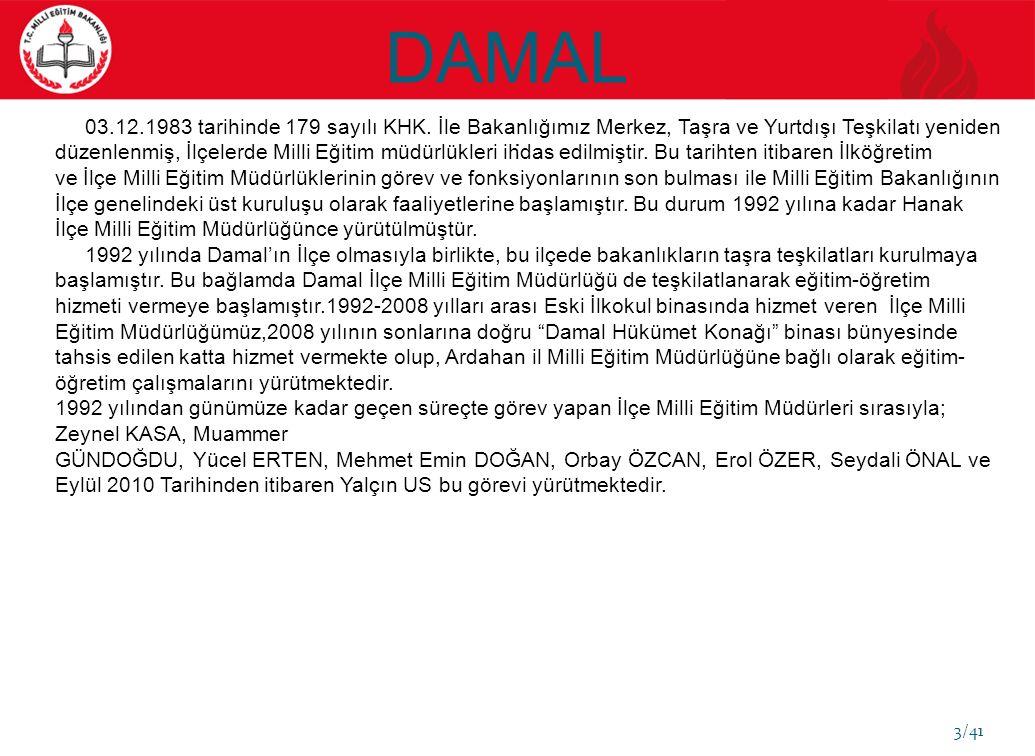 DAMAL 3/41. 03.12.1983 tarihinde 179 sayılı KHK.