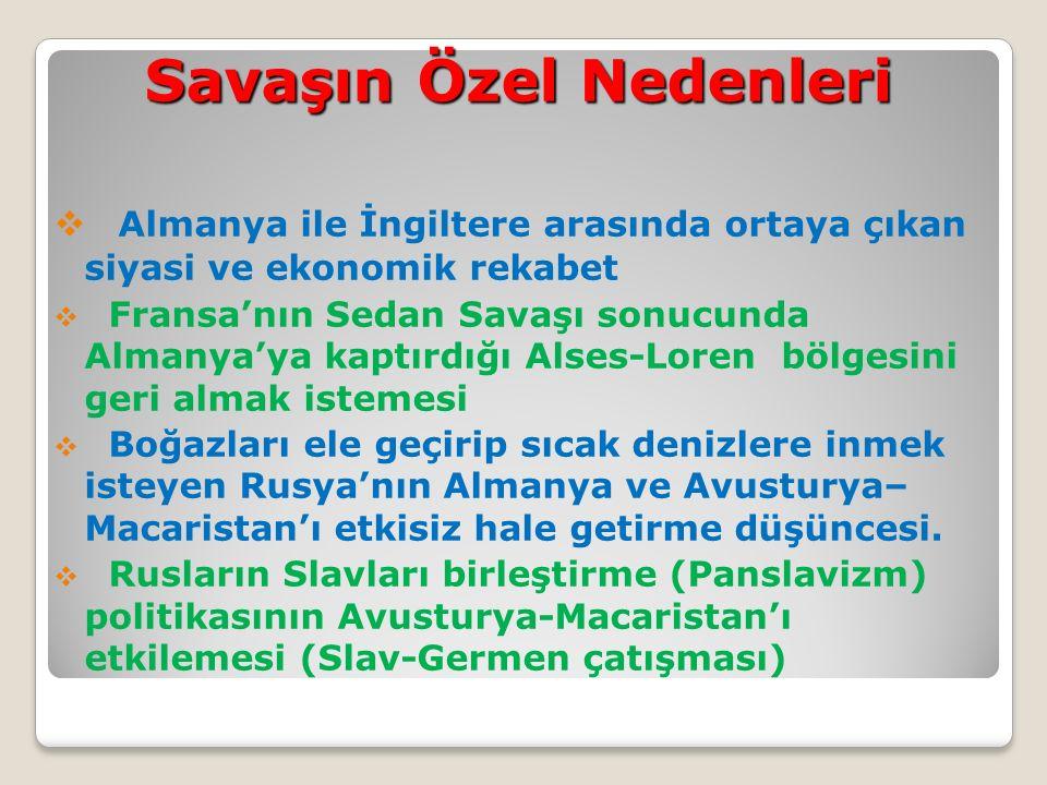 Sonuçları:  Avrupa ve Asya'da devletlerarası dengeler bozulmuş,  Osmanlı, Avusturya-Macar imparatorluğu ve Rusya tarihe karıştı.