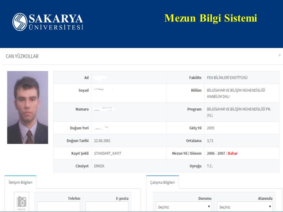 www.sakarya.edu.tr Mezun Bilgi Sistemi