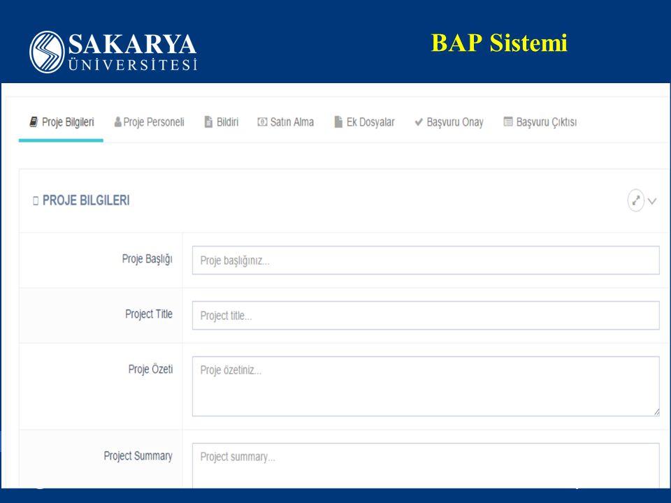 www.sakarya.edu.tr BAP Sistemi
